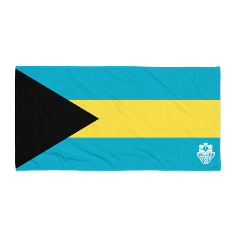 Beach Towel - Bahamas Flag - Trini Jungle Juice Store