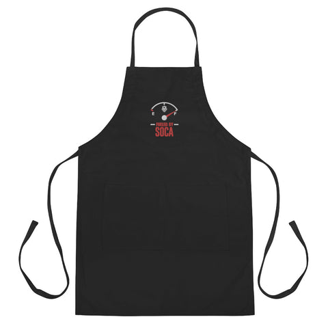 Fueled By Soca Embroidered Apron (Black)