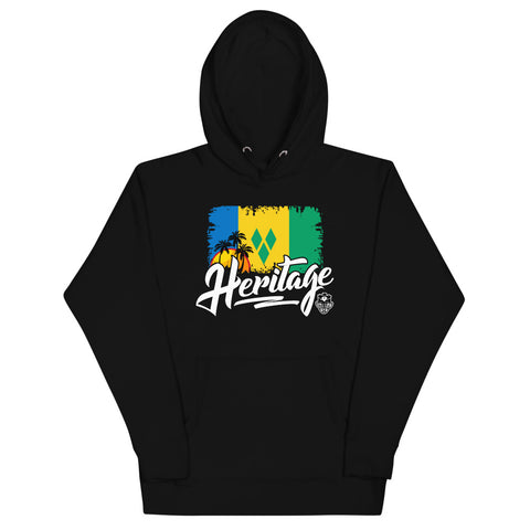 Heritage - St. Vincent and the Grenadines Unisex Premium Hoodie (Black) - Trini Jungle Juice Store