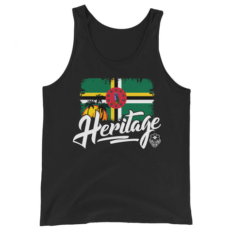 Heritage - Dominica Unisex Tank Top (Black) - Trini Jungle Juice Store