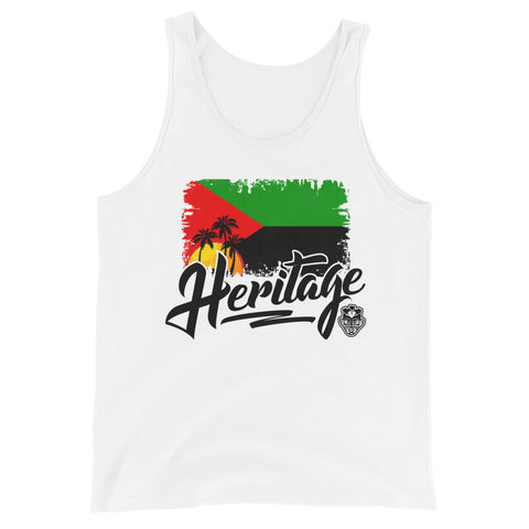 Heritage - Martinique Unisex Tank Top (White) - Trini Jungle Juice Store