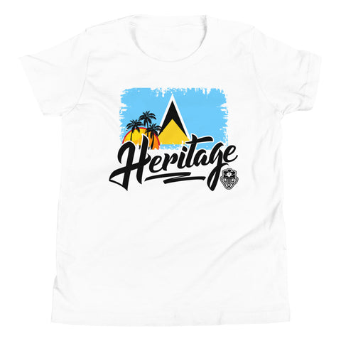 Heritage - St. Lucia Youth T-Shirt (White)