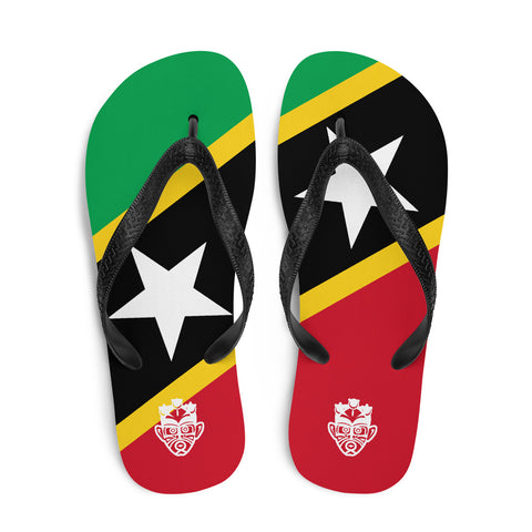 Island Flag - St. Kitts and Nevis Flip Flops