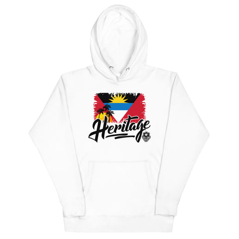 Heritage - Antigua and Barbuda Unisex Premium Hoodie (White) - Trini Jungle Juice Store
