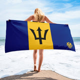 Beach Towel - Barbados Flag - Trini Jungle Juice Store