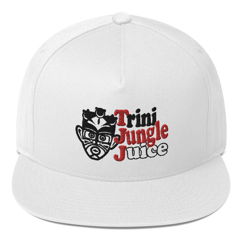 Trini Jungle Juice - Flat Bill Cap (White) - Trini Jungle Juice Store