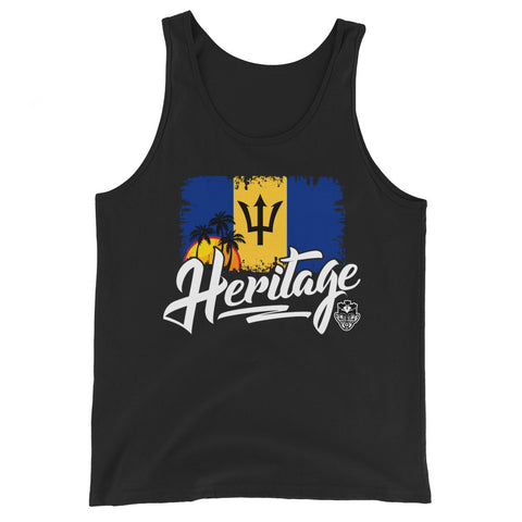 Heritage - Barbados Unisex Tank Top (Black) - Trini Jungle Juice Store