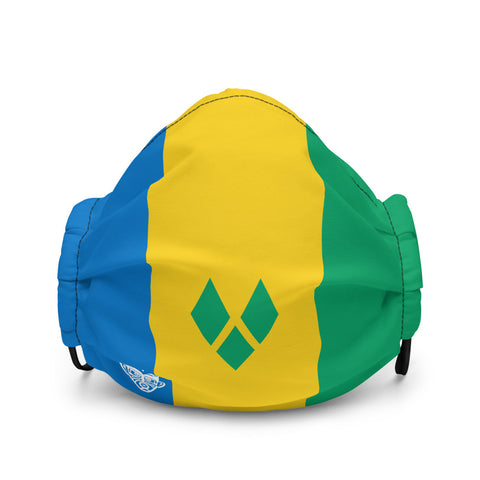 REPRESENT - St. Vincent and The Grenadines Premium Face Mask - Trini Jungle Juice Store