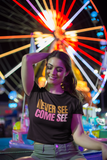 Caribbean Sayings - Never See Come See Women's Crop Tee - Trini Jungle Juice Store