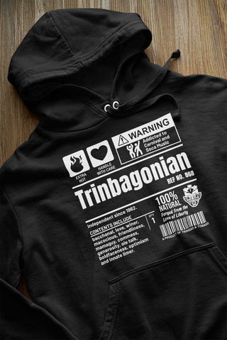 A Product of Trinidad and Tobago - Trinbagonian Unisex Premium Hoodie (White Print)