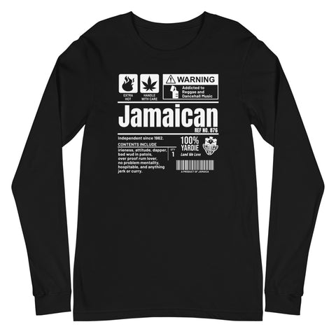 A Product of Jamaica - Jamaican Unisex Long Sleeve Tee
