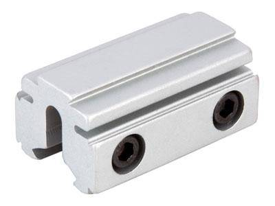 "BKL 3/8"" or 11mm Tri-Mount Dovetail Riser Mount, 1.625"" Long, Silver - Mile High AirGuns"