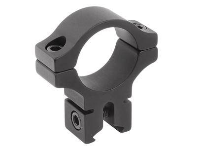 "BKL Single 1"" Ring, 3/8"" or 11mm Dovetail, 0.60"" Long, Black - Mile High AirGuns"