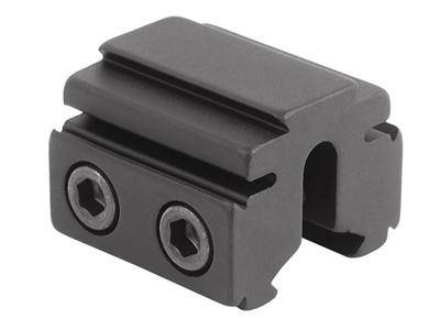 "BKL Single 3/8"" or 11mm Tri-Mount Dovetail Riser Mount, 1"" Long, Black - Mile High AirGuns"