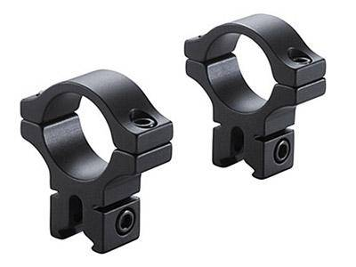 "BKL 1"" Rings, 3/8"" or 11mm Dovetail, Matte Black - Mile High AirGuns"