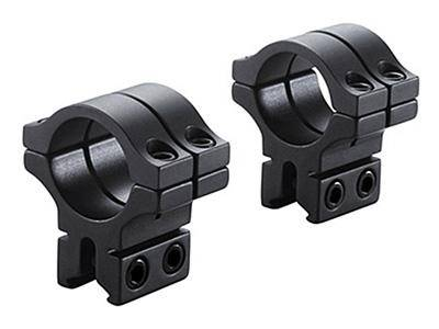 "BKL 1"" Rings, 3/8"" or 11mm Dovetail, Double Strap, Matte Black - Mile High AirGuns"
