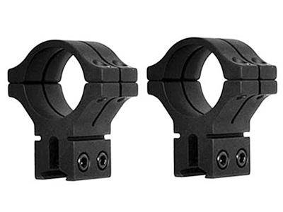 "BKL 1"" Rings, 14mm Dovetail, Double Strap, Matte Black - Mile High AirGuns"