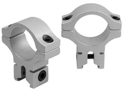 "BKL 1"" Rings, 3/8"" or 11mm Dovetail, Silver - Mile High AirGuns"