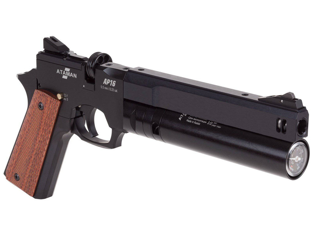 Ataman AP16 Regulated Compact Air Pistol, Black - Mile High AirGuns