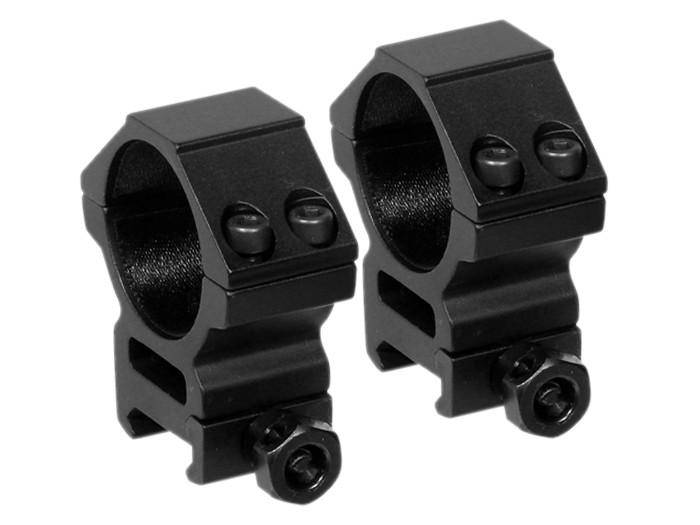 Leapers 30mm Rings, Medium, Weaver Mount, See-Thru - Mile High AirGuns