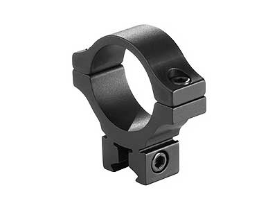 "BKL Single 30mm Single Strap Ring, 3/8"" or 11mm Dovetail, .60"" Long, Low, Black - Mile High AirGuns"