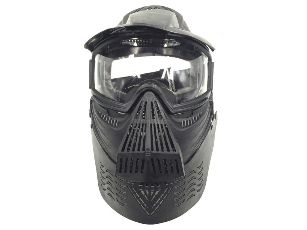 Jag Bravo Airsoft Full Face Mask with Poly Lens, Black - Mile High AirGuns