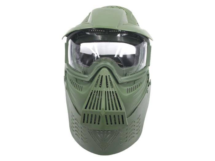 Bravo Airsoft Full Face Mask with Poly Lens in OD - Mile High AirGuns