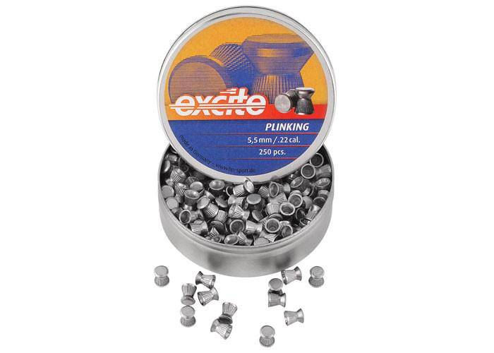 H&N Excite Plinking Pellets, .22 Cal, 12.96 Grains, Wadcutter, 250ct - Mile High AirGuns
