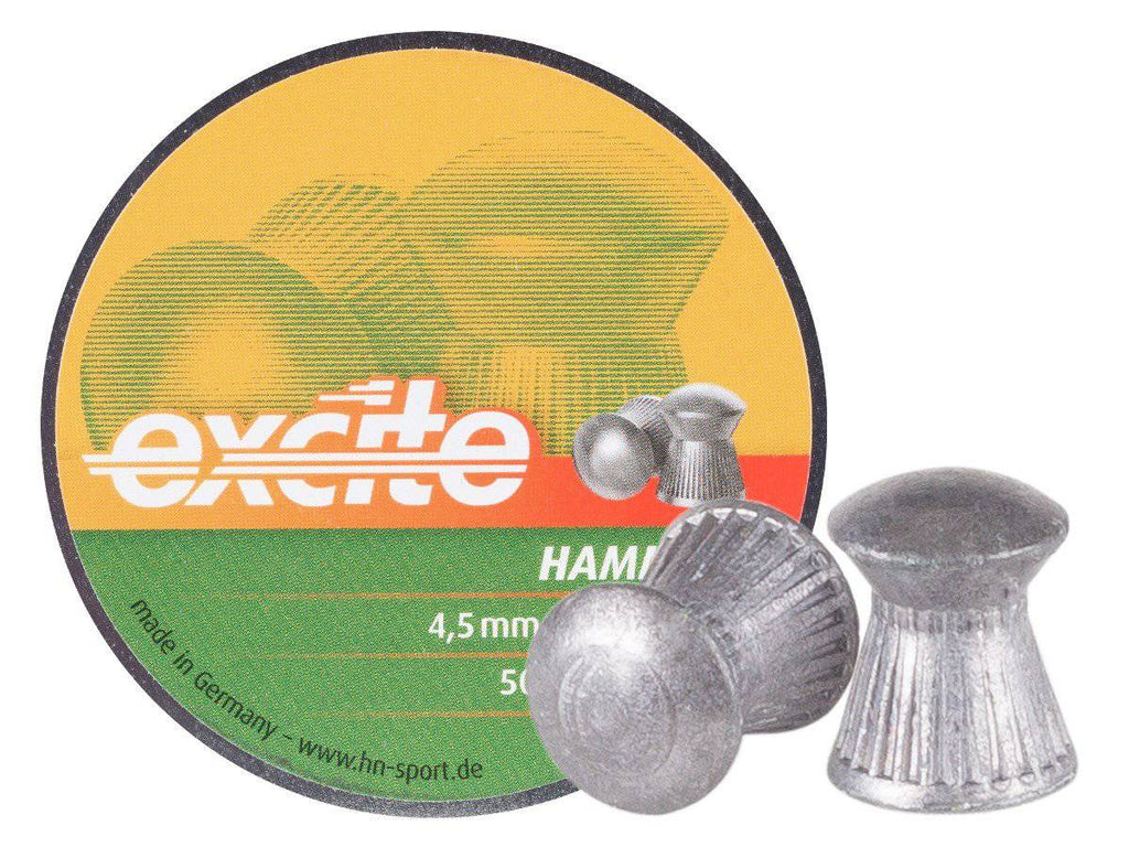H&N Excite Hammer Pellets, .177 Cal, 7.87 Grains, Domed, 500ct - Mile High AirGuns