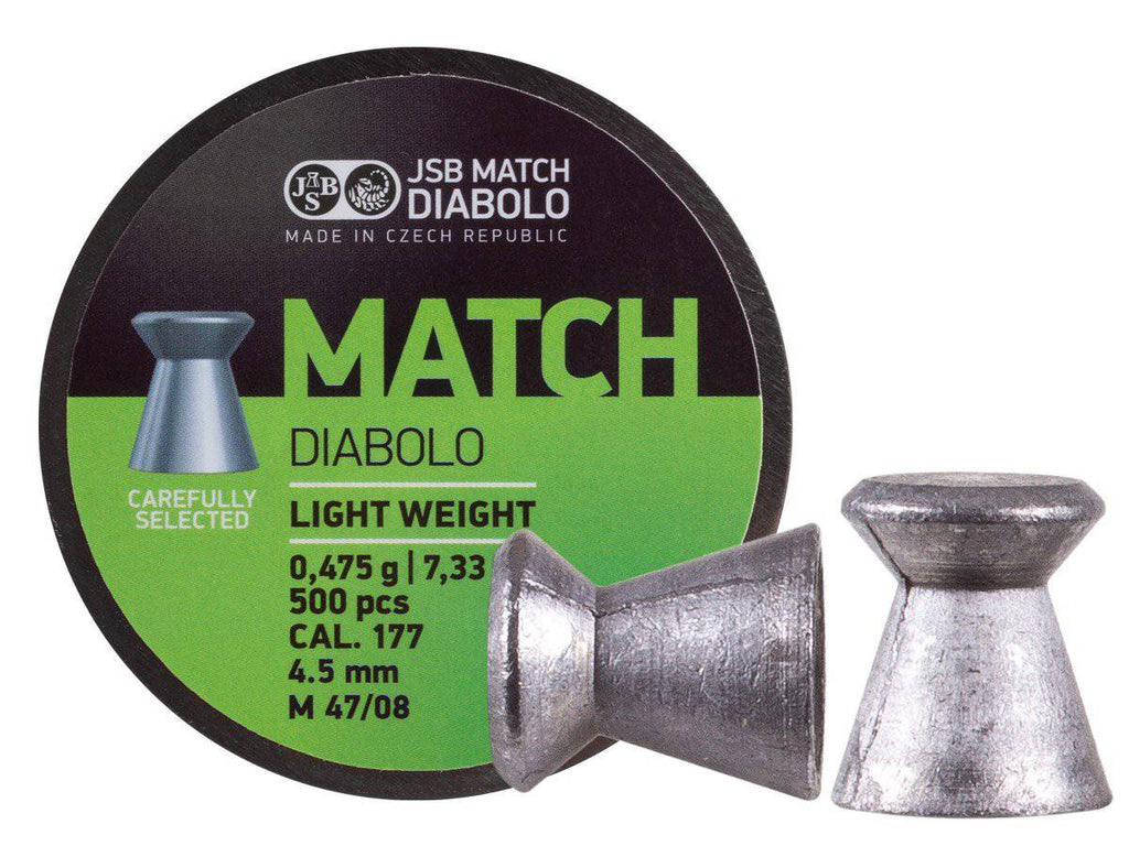 JSB Green Match Light Weight  .177 Cal, 7.72 Grains, Wadcutter, 500ct - Mile High AirGuns