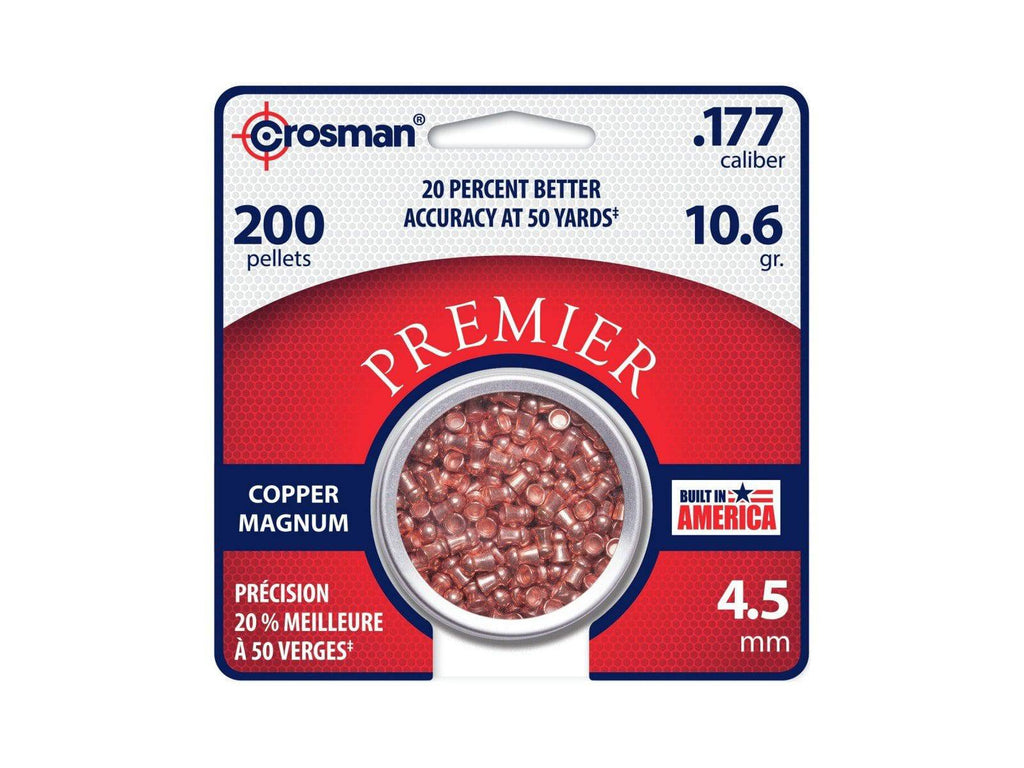 Crosman Premier Copper Magnum .177 Cal, 10.6 Grains, Domed, 200ct - Mile High AirGuns