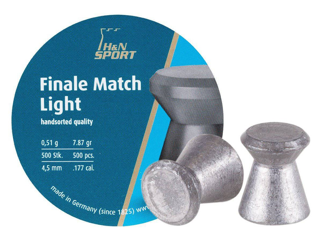 H&N Finale Match Light .177 Cal, 7.87 Grains, 4.50mm, Wadcutter, 500ct - Mile High AirGuns