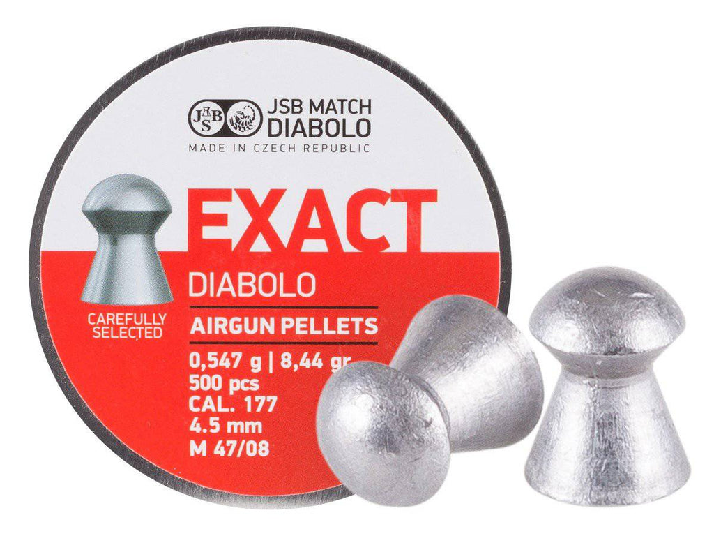 JSB Match Diabolo Exact .177 Cal, 8.44 Grains, Domed, 500ct, 4.53mm - Mile High AirGuns