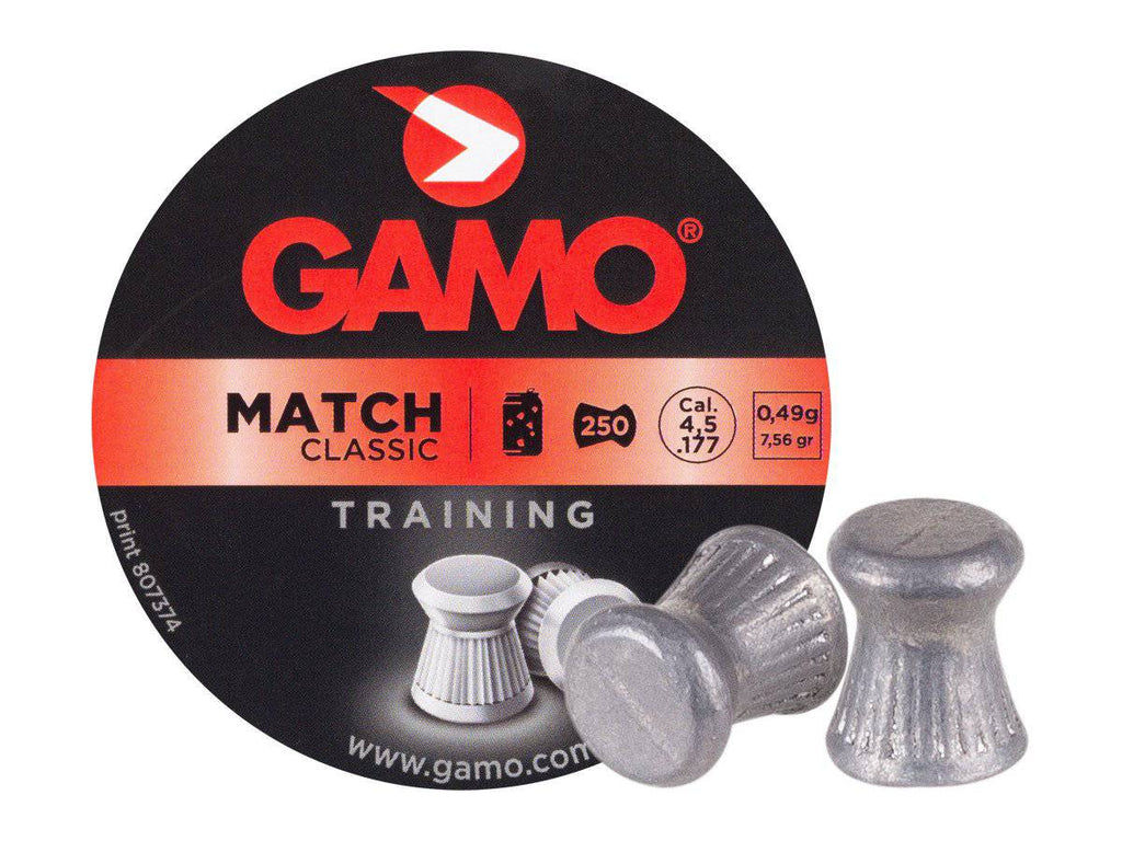 Gamo Match .177 Cal, 7.56 Grains, Wadcutter, 250ct - Mile High AirGuns