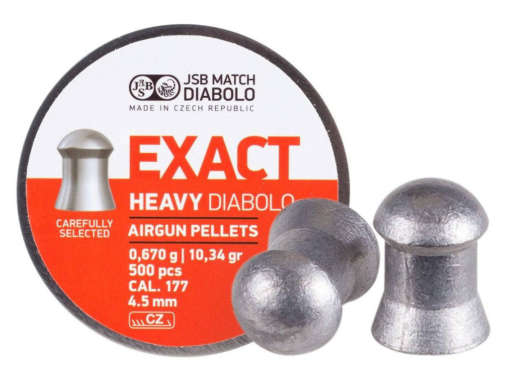 JSB Diabolo Exact Heavy .177 Cal, 10.34 Grains, Domed, 500ct - Mile High AirGuns