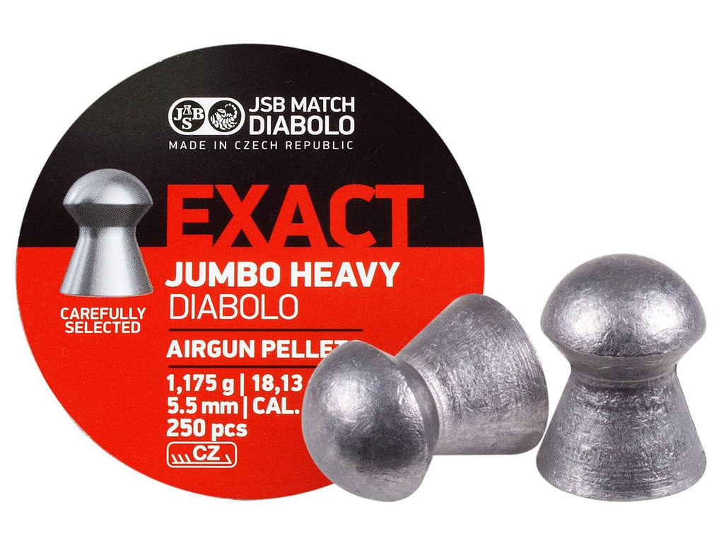 JSB Match Diabolo Exact Jumbo Heavy .22 Cal, 18.13 Grains, Domed, 250ct - Mile High AirGuns