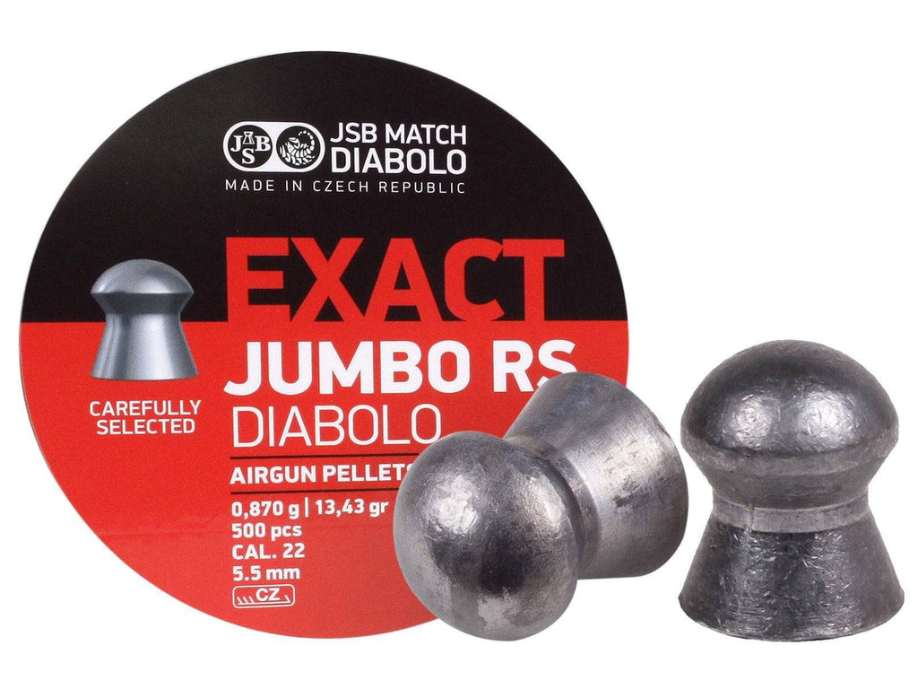 JSB Match Diabolo Exact Jumbo RS .22 Cal, 13.43 Grains, Domed, 500ct - Mile High AirGuns