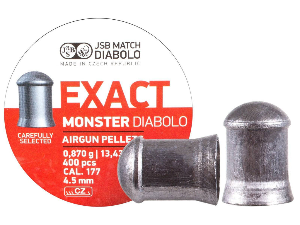 JSB Exact Monster .177 Cal, 13.4 Grains, Cylindrical, 400ct - Mile High AirGuns