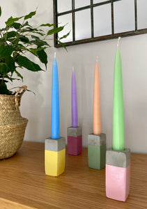 Sage Concrete Candlestick holder