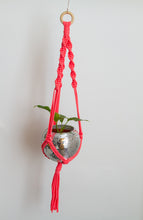 Load image into Gallery viewer, Hot Pink Macrame Plant Hanger
