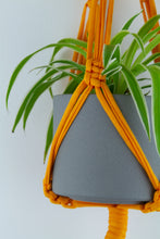 Load image into Gallery viewer, Light Orange Macrame Plant Hanger