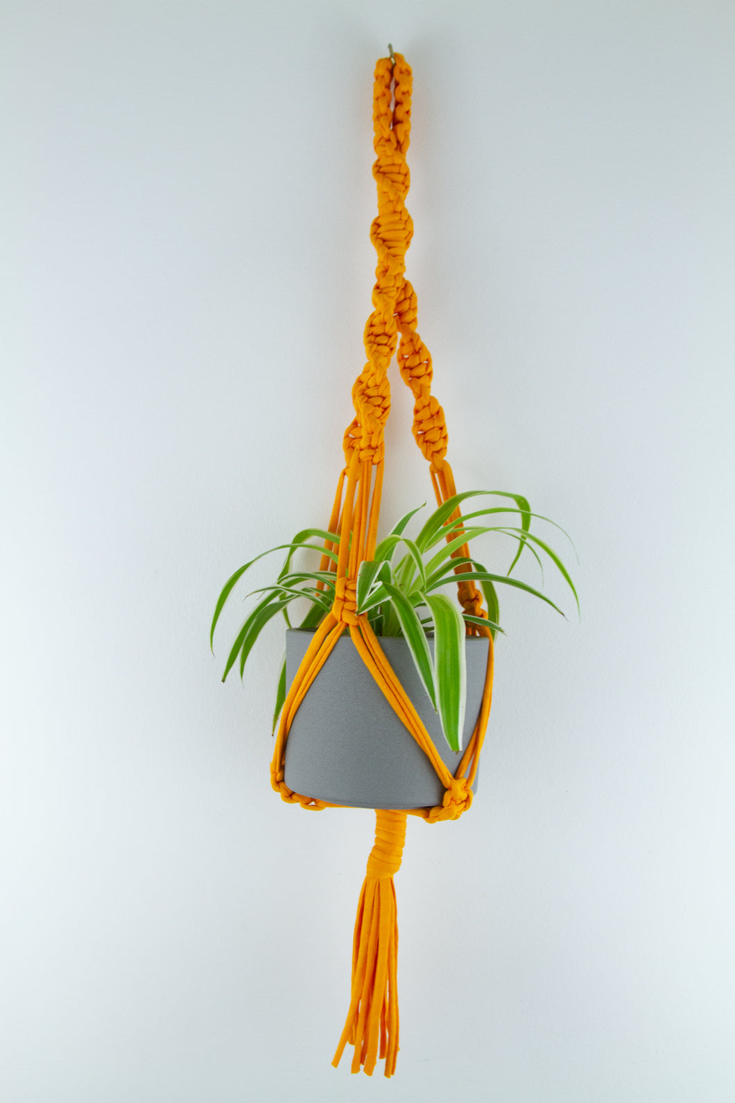 Light Orange Macrame Plant Hanger