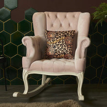 Load image into Gallery viewer, Leopard Head Gold Chain Cushion