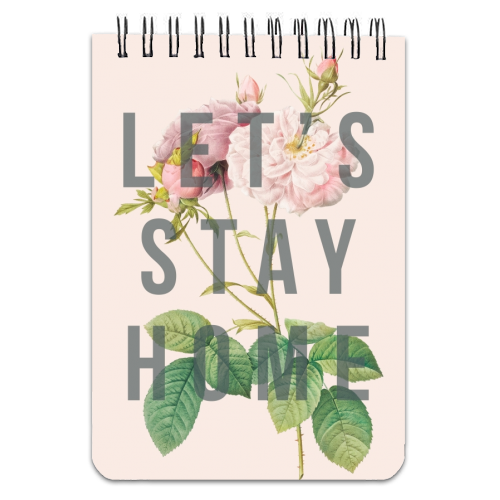 Let's Stay Home Notepad