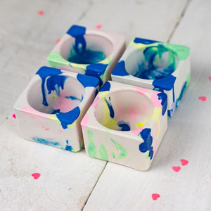 Marbled Jesmonite Tealight Holders