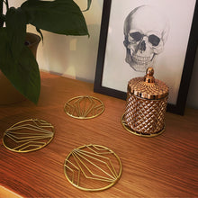 Load image into Gallery viewer, Geometric Coaster Set - Gold