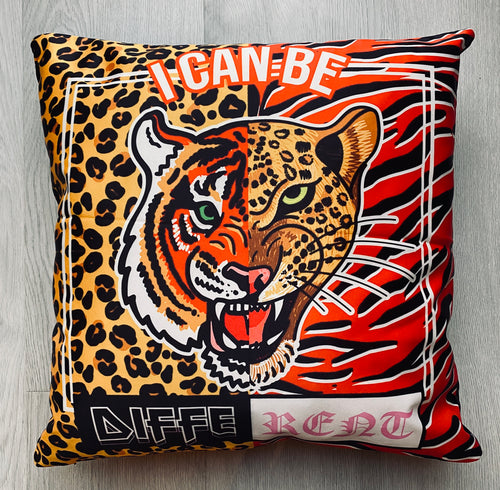Tiger Leopard Be Different Cushion
