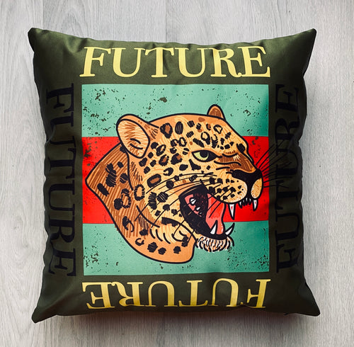 Leopard Head Future Cushion
