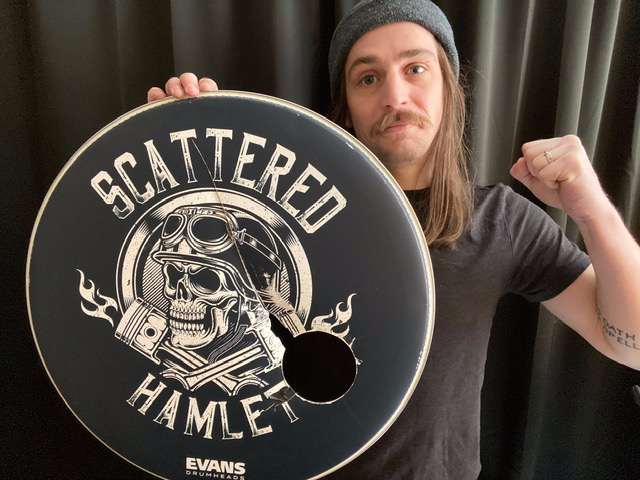 "Grant's ""Skull and Piston"" Stage/Session Drum Head (ONLY ONE AVAILABLE)"