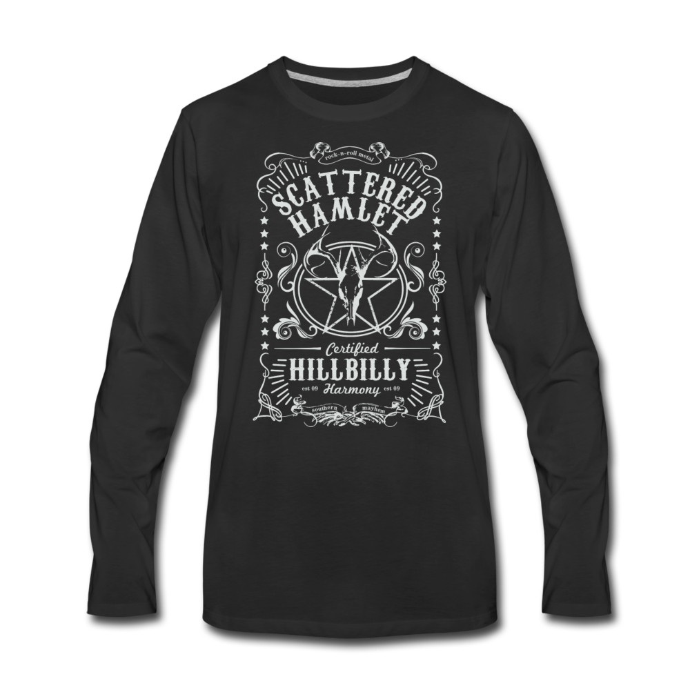 Whiskey Label Premium Long Sleeve T-Shirt - black
